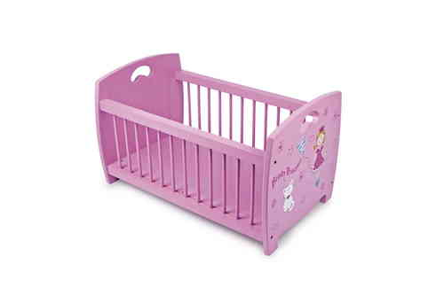 TOY Wooden Doll's Cradle  Pink  Beauty Princess