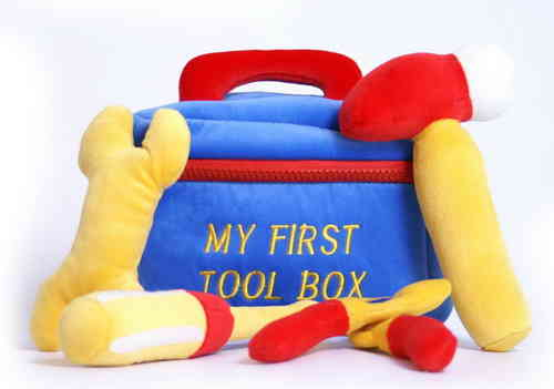 Soft Toy My First Tool Box Baby Toy Zipped Case With 4 Tools