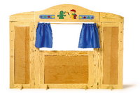 Discounted Make Believe Fantastic Wooden Toy Shop Stall VARIO + Converts To a Puppet Theatre