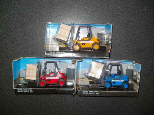 Teamsterz Diecast Forklift Truck Fork Lift Loading Vehicle Warehouse model Vehicle Toy  Scale  1/24