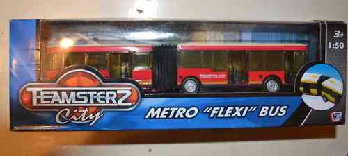Teamsterz Diecast & Plastic  Bendy Flexi Bus Toy Vehicle ModelScale  1/48