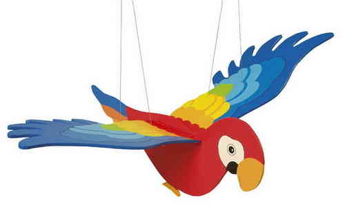 Goki Wooden Large Flying Parrot Mobile Flapping Wings