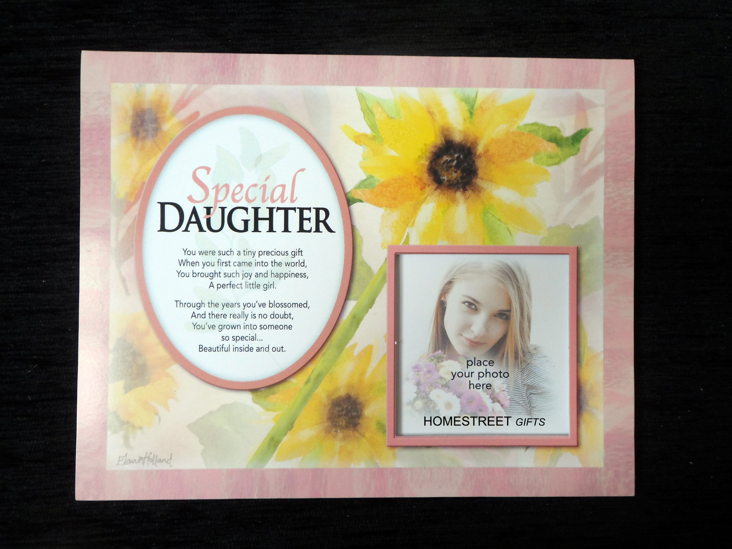 Details about Special Daughter Flower Family & Friends Photo Mount Gift  With Poem Verse New