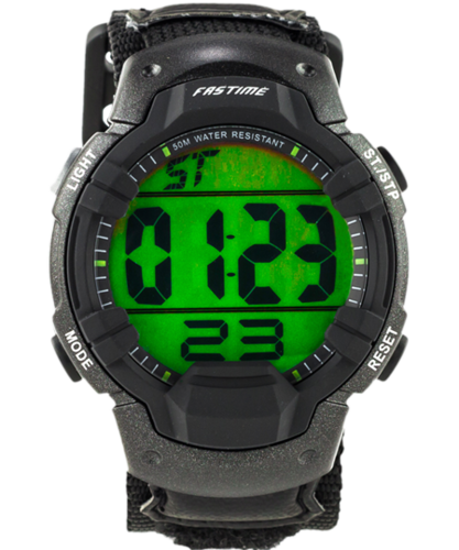 Fastime SW3 Navigators Watch/Stopwatch with Black velcro adj strap.