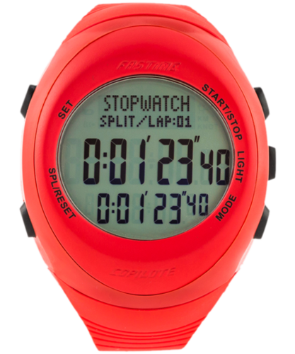 Fastime RW3 Copilote Watch - Red with Red Topring Grey Display