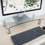 Monitor Riser Adjustable-Clear