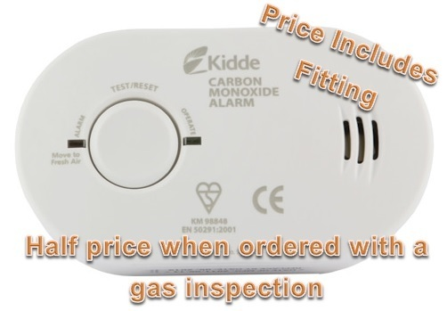 Carbon monoxide detectors + gas inspection