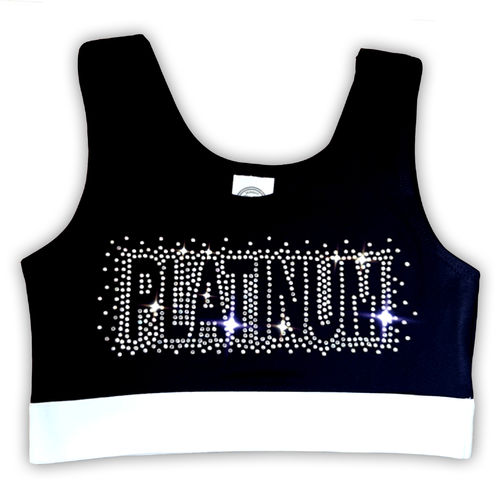 Platinum Rhinestone Crop Top
