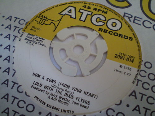 Lulu with the Dixie Flyers - Hum a Song (From Your Heart)