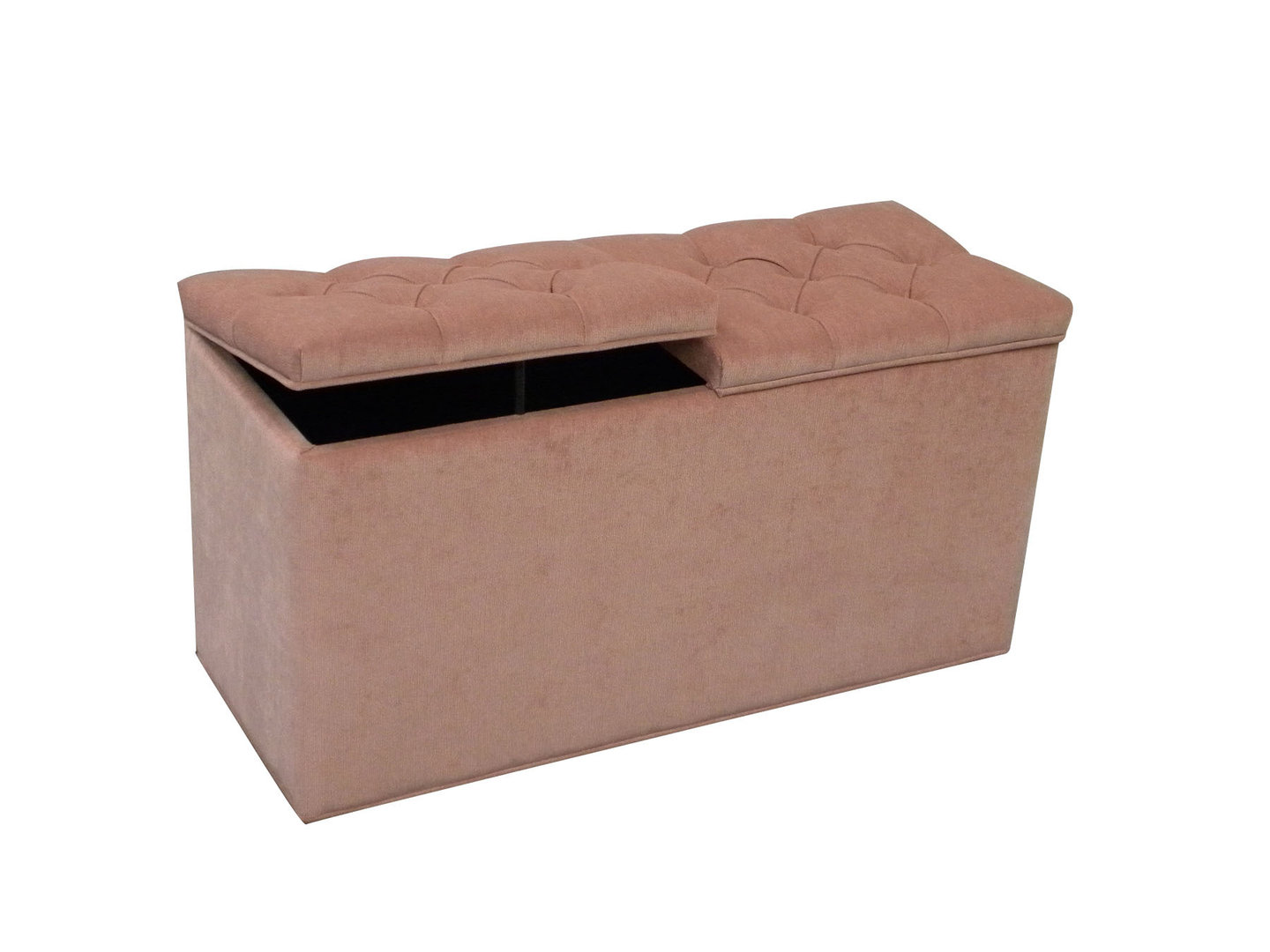 Pleasant Large Ottoman Storage Box Linen Storage Chest In Coral Pink Machost Co Dining Chair Design Ideas Machostcouk
