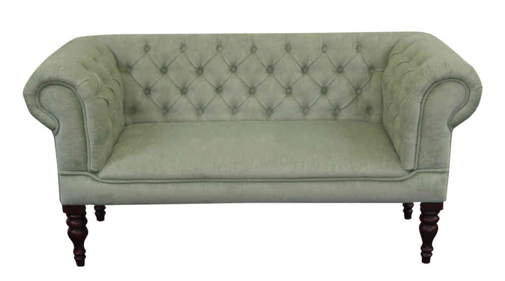 Enjoyable Antoinette Sage Green Fabric Small Sofa Slipper Sofa With Chunky Legs Bralicious Painted Fabric Chair Ideas Braliciousco