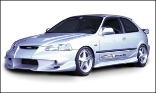 Honda Civic EK Hatchback Veilside Side Skirts