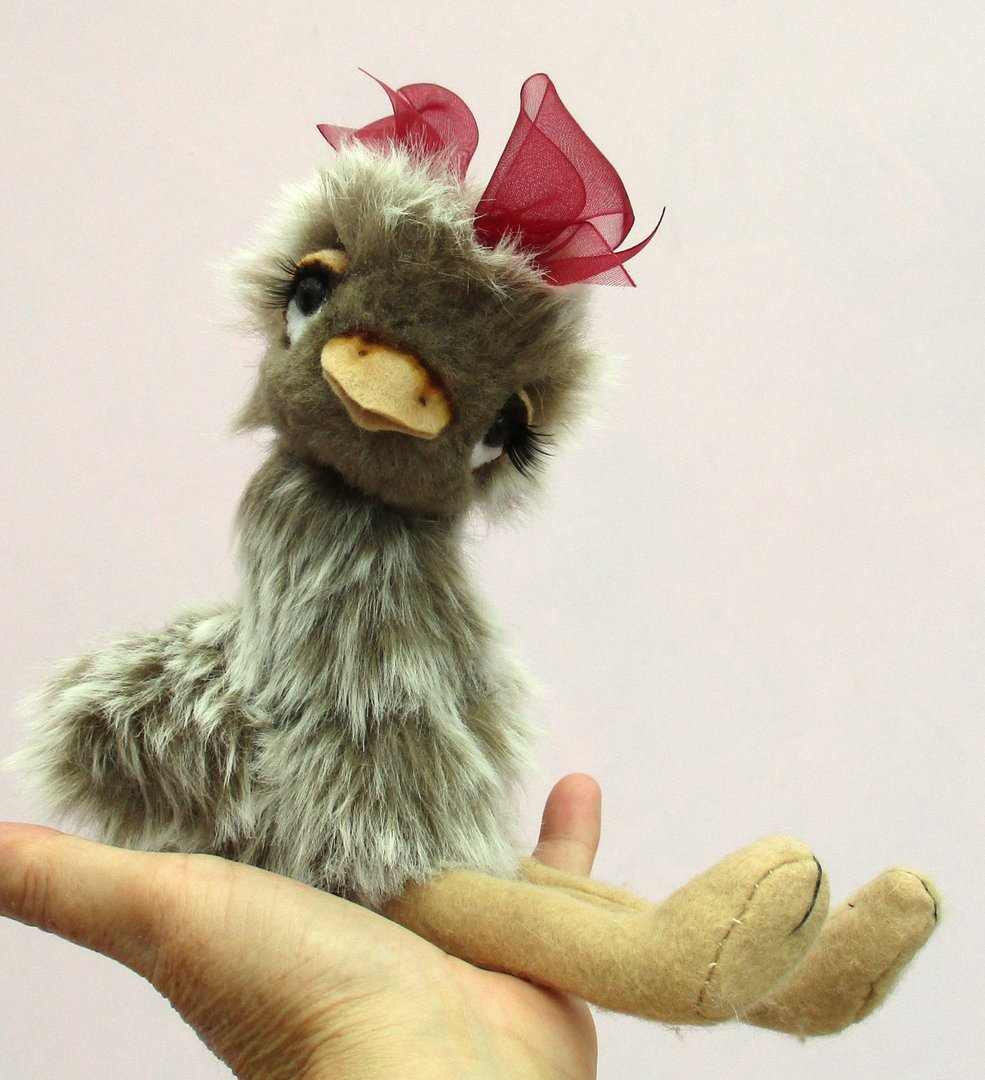 Esther Ostrich soft toy sewing pattern
