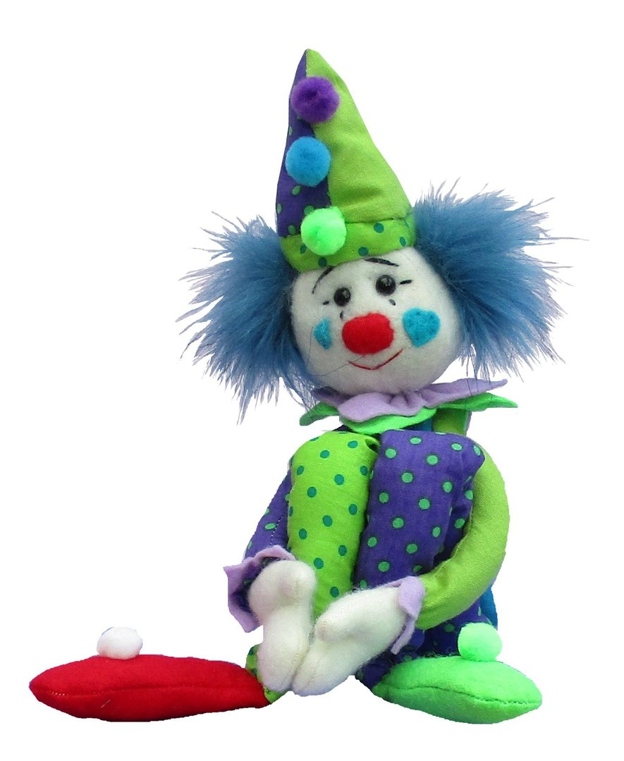 Casper Clown, digital soft toy sewing pattern