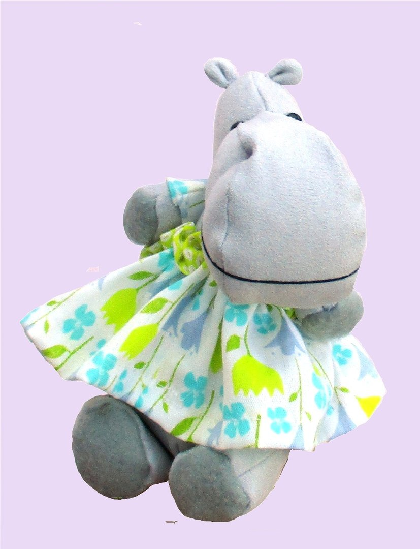 Hildegard Hippo soft toy sewing pattern