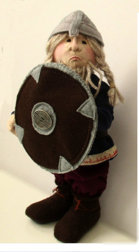 Halvard fabric viking warrior doll sewing pattern  PDF