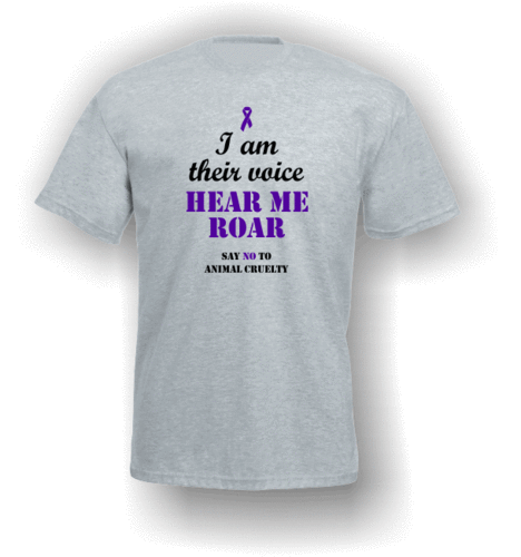I am their voice - hear me roar. T-Shirt (Adult)