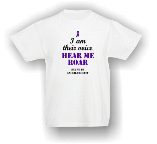 I am their voice - hear me roar. T-Shirt (Kids)
