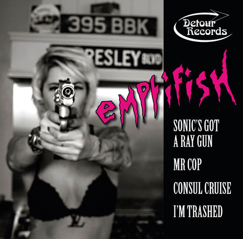 "EMPTIFISH - Sonic's Got A Ray Gun (PINK VINYL) EP 10"" + P/S (NEW)"