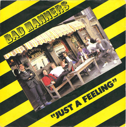 "BAD MANNERS - Just A Feeling 7"" + P/S (EX/EX) (SKA)"