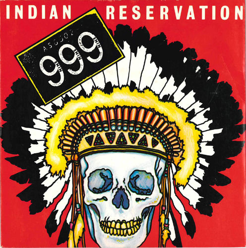 "999 - Indian Reservation (CLEAR WAX) 7"" + P/S (EX/EX) (P)"