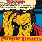 "PURPLE HEARTS, THE - Frustration 7"" + P/S (VG+/VG+) (M)"
