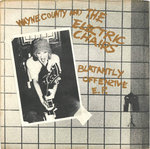 "COUNTY, WAYNE & THE ELECTRIC CHAIRS - Blatantly Offence (GOLD VINYL) EP 7"" + P/S (VG+/VG+) (P)"