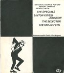 SPECIALS, THE, THE SELECTOR, THE MO-DETTES & LINTON KWESI JOHNSON - GIG PROGRAM (EX) (D1)