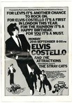 ELVIS COSTELLO & THE ATTRACTIONS & THE STRAY CATS - Rainbow Theatre TOUR PROGRAM & TICKET (EX) (D1)