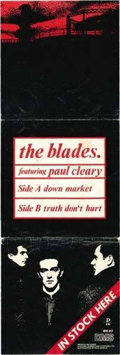 BLADES, THE - Down Market PROMO POSTER (VG) (D1)