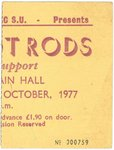 EDDIE & THE HOT RODS - Hatfield Polytechnic Gig Ticket, 21st October 1977 (EX) (D1)