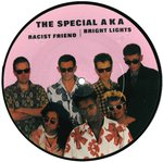 "SPECIALS, THE - Racist Friend / Bright Lights (PICTURE DISC) - 7"" (-/VG+) (SKA)"