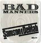 "BAD MANNERS - Samson & Delilah (CLEAR WAX - 7"" + PVC P/S (EX-/EX) (SKA)"