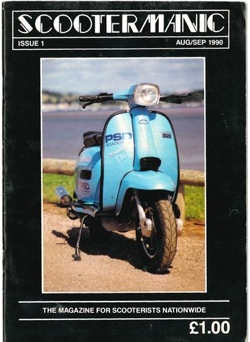 SCOOTERMANIC - Issue 1 Aug/Sept 1990 MAGAZNE (EX-) (G.B)