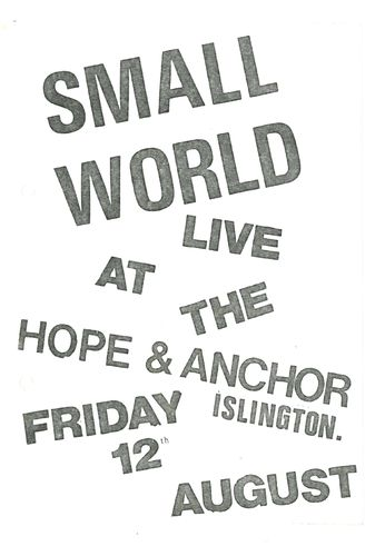 SMALL WORLD - Gig Flyers + COMBINE Photo (EX) (G.B)