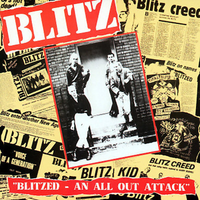 BLITZ - Blitzed - An All Out Attack LP (EX/EX) (P)