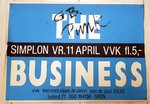 BUSINESS, THE - 70cm x 49cm 11th April 1986 Groningen, Holland GIG POSTER (VG+)