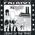 "PATRIOT - Crime Of The Times (BLUE VINYL) EP 7"" + P/S (EX/EX) (P)"