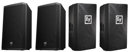 Electro-Voice 2x ZLX-15P Package With Covers