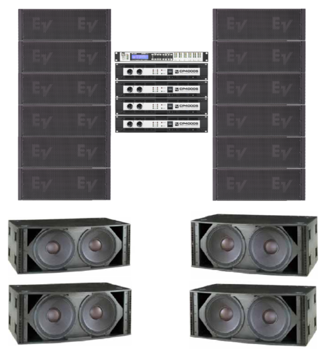 Electro-Voice XLD 6 A Side System *Special Order*