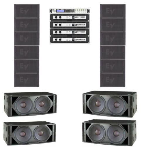 Electro-Voice XLE181 6 A Side System
