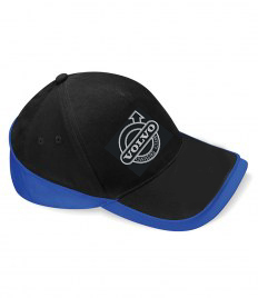 BLACK/ROYAL VOC EMBROIDERED TWO TONE BASEBALL CAP