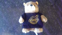 SMALL BLACK EMBROIDERED VOC TEDDY