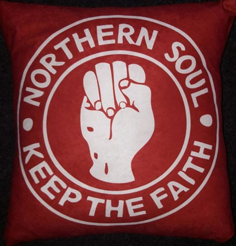 Northern Soul Red Cushion