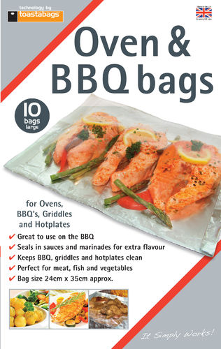 Oven & BBQ bags 10pk Large