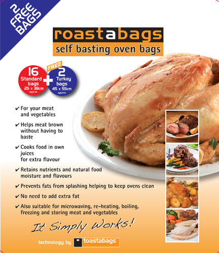 OFFER Oven Roasting Bag 16 Standard PLUS 2 FREE Large Bags