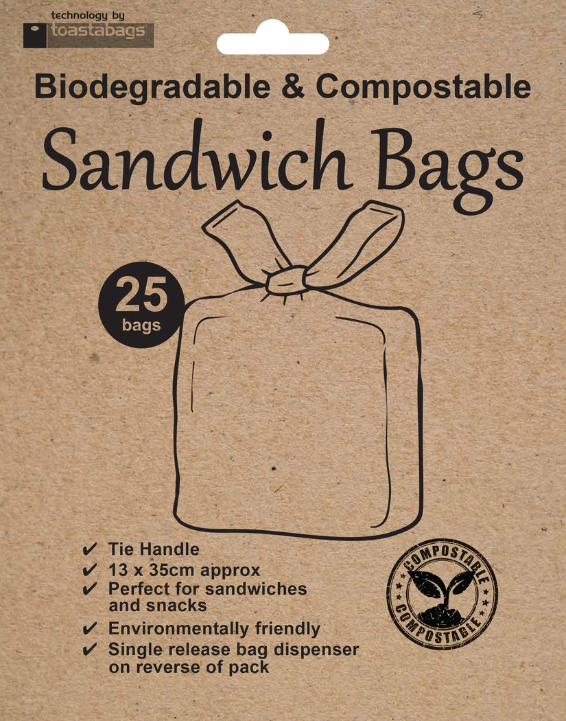 Eco Sandwich Bags, compostable