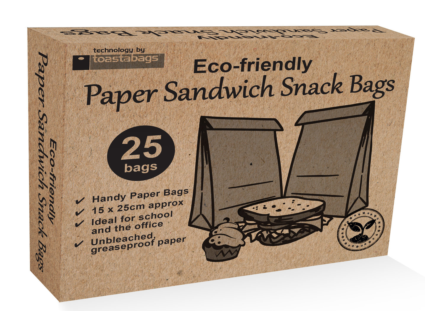 Eco Paper Sandwich Snack Bags