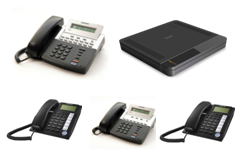 Samsung 7030 Phone System -2x digital Phones, 2x Analog phones, 4 analogue lines
