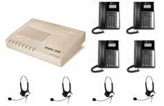 Orchid 308 telephone system with 4 Binaural Headset Included